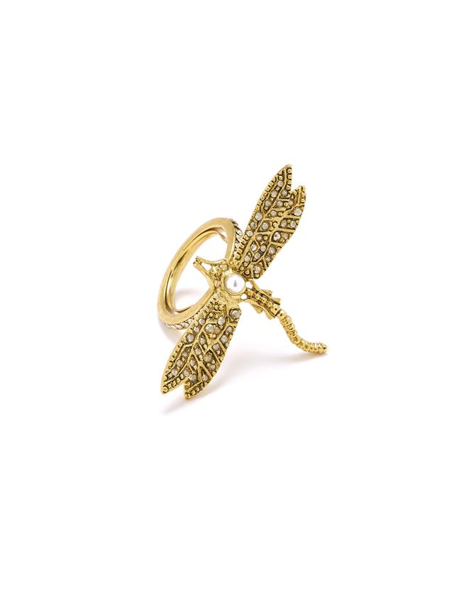 Dragonfly Ring Cry Gold Shadow