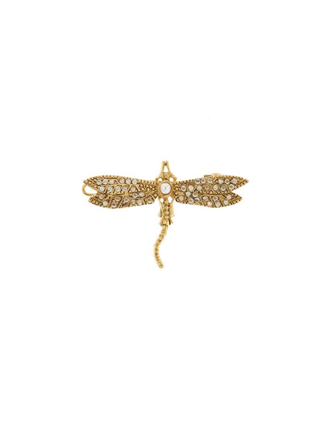 Dragonfly Barrette Gold