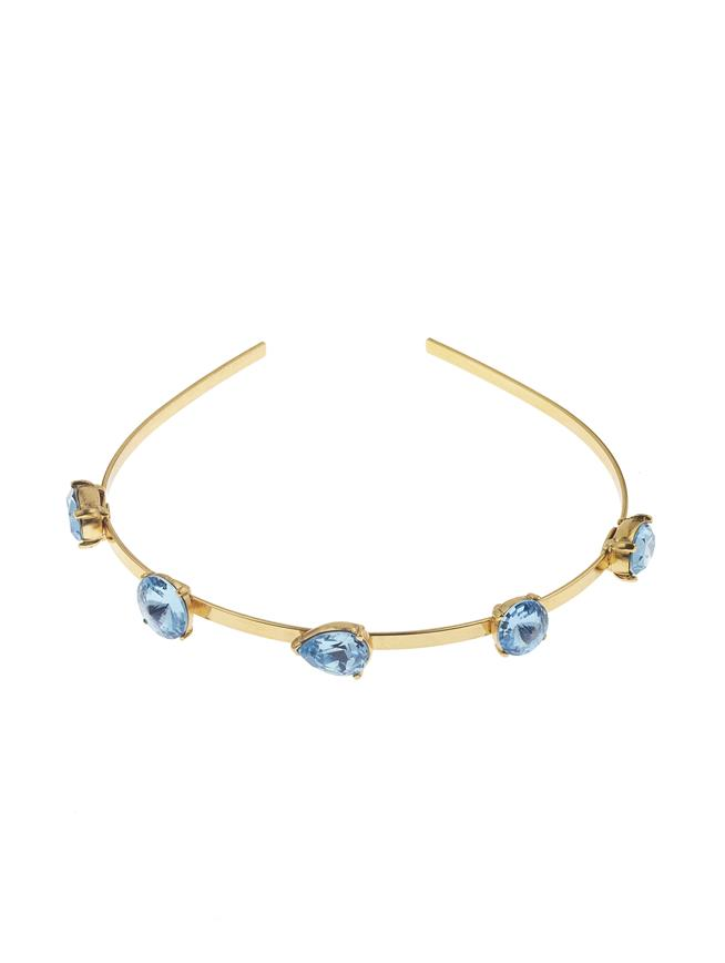 Gallery Crystal Headband Aquamarine
