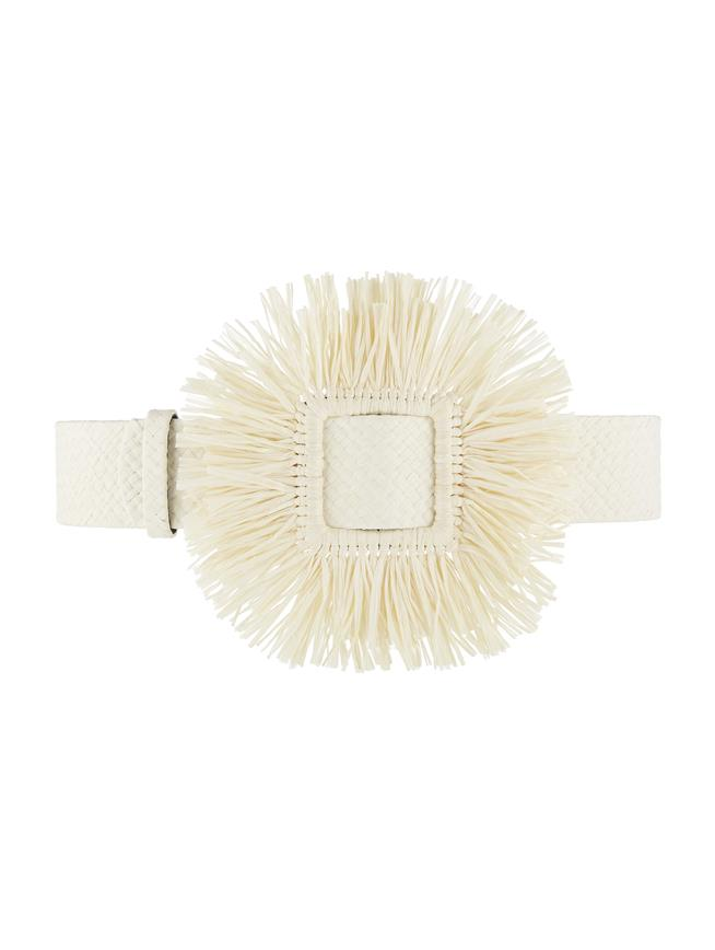 Raffia Belt Ivory