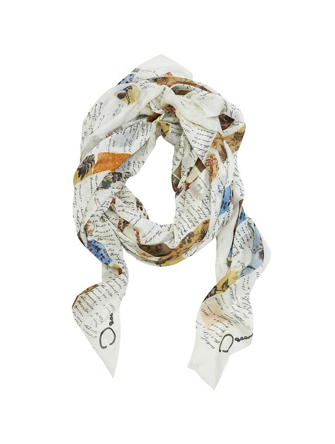 Swatch Book Scarf Ecru Multi