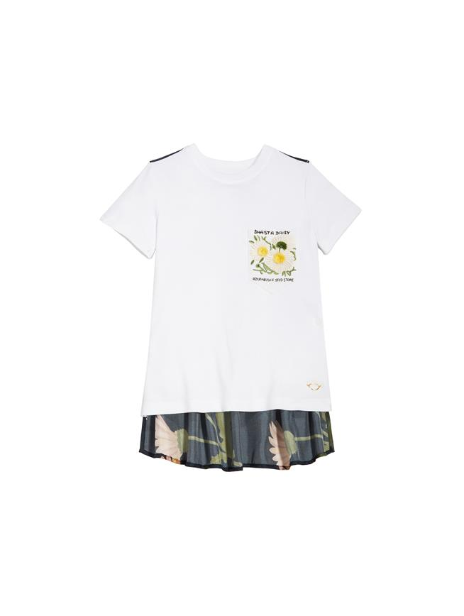 Flower T-Shirt Navy Multi