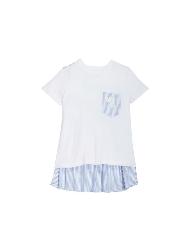 Striped T-Shirt White / Blue