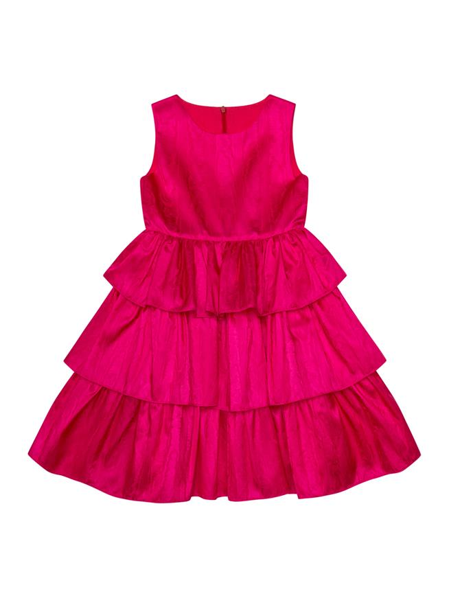 Tiered Dress Shocking Pink