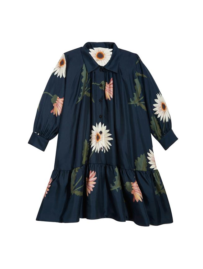 Navy Flower Dress Navy Multi