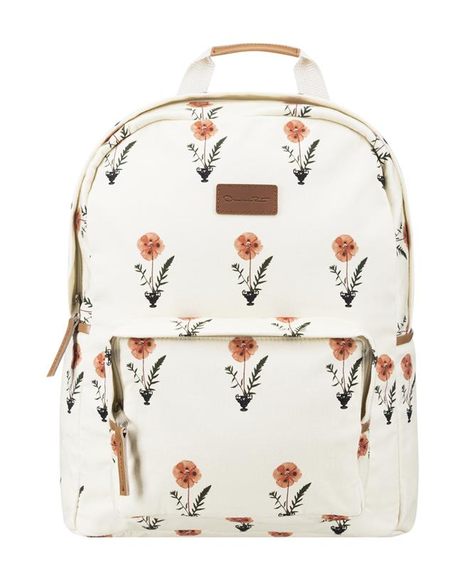 Canvas Backpack Ecru Multi