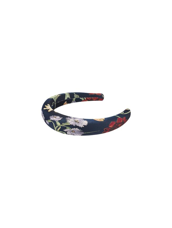 Botanical Headband Navy Multi