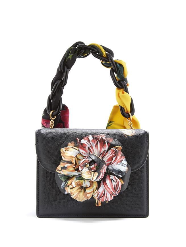 Printed Flower Mini TRO Bag  Black Multi