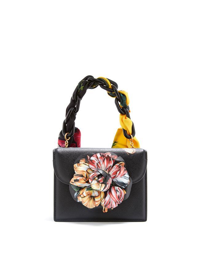 Printed Flower Mini TRO Bag  Black Multi