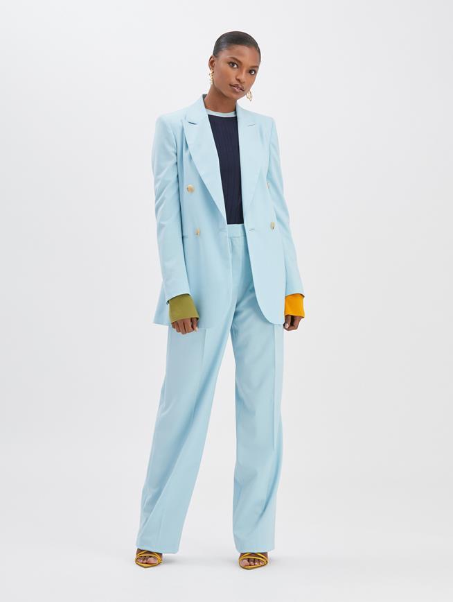 Wide Leg Stretch Pant Aquamarine