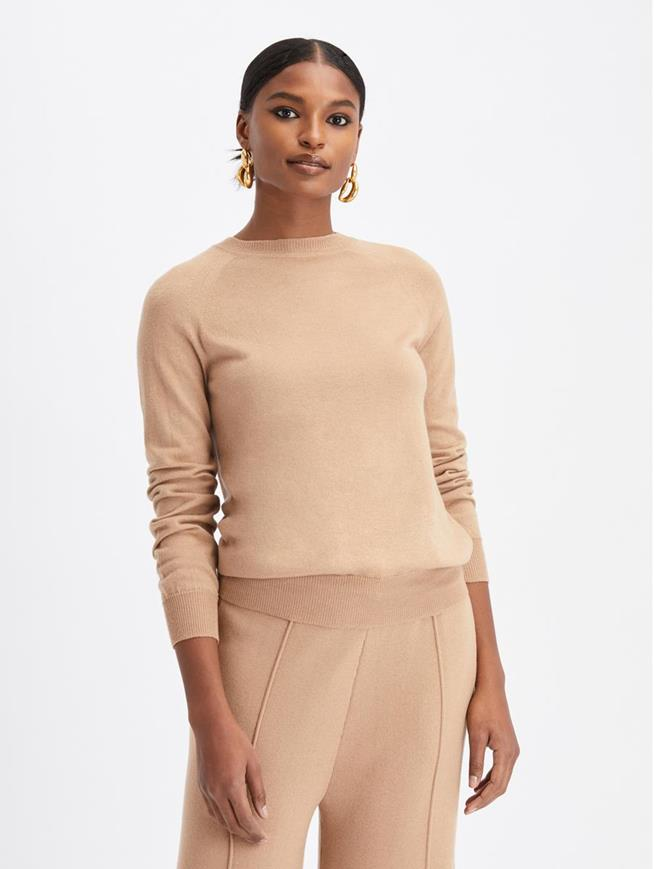 Long Sleeve Pullover Sweater Camel