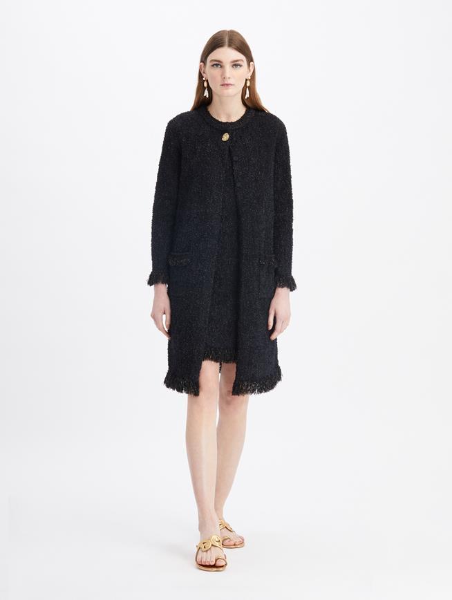 Sleeveless Mini Knit Dress  Black