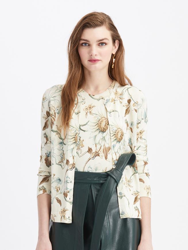 Long Sleeve Knit Cardigan Ivory