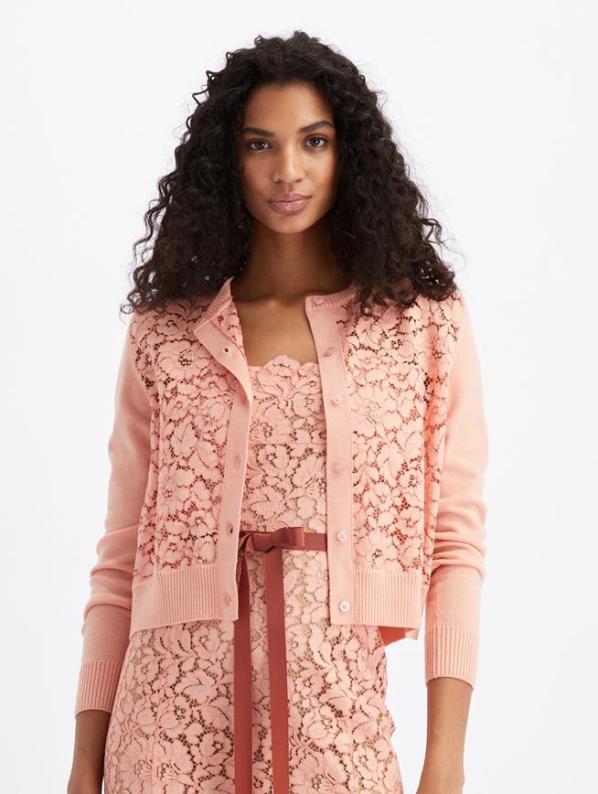 Lace Cardigan  Blush