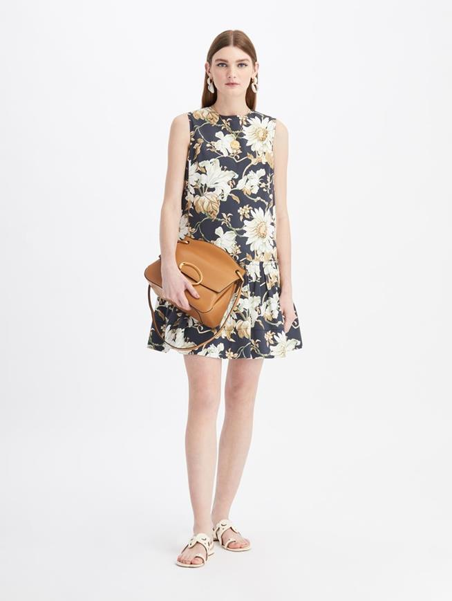 Daisy Print Mini Day Dress Navy
