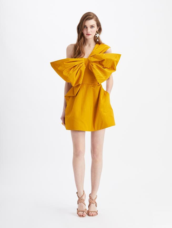 Bow Cocktail Mini Dress  Honey