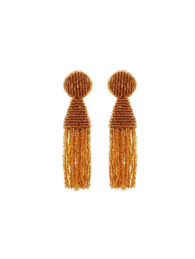 Short Tassel Earrings Honey