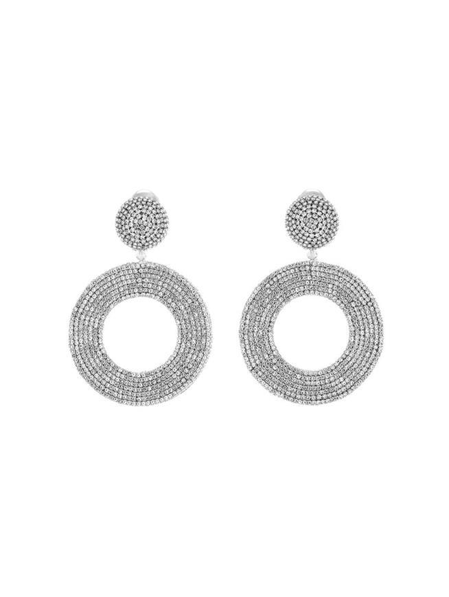 Crystal Hoop Earrings Crystal