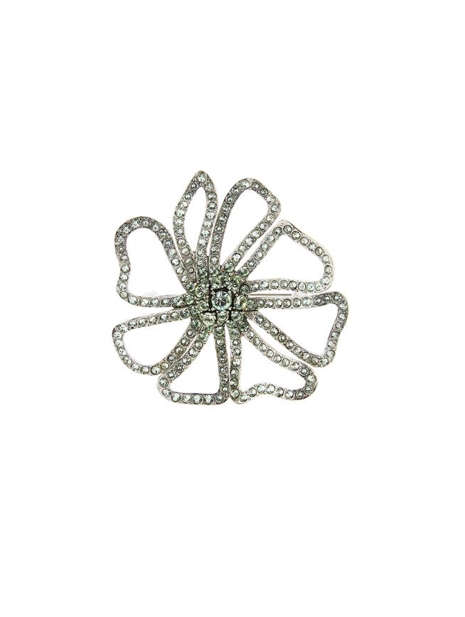 Pavé Flower Brooch Mint