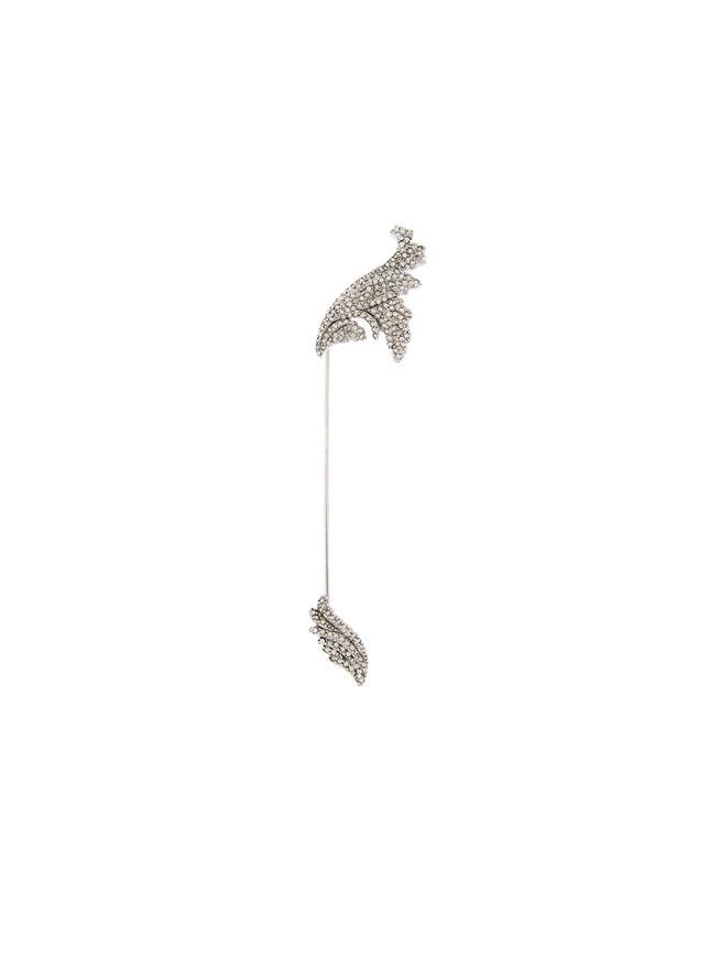 Pavé Leaf Brooch Cry Shade/Silver