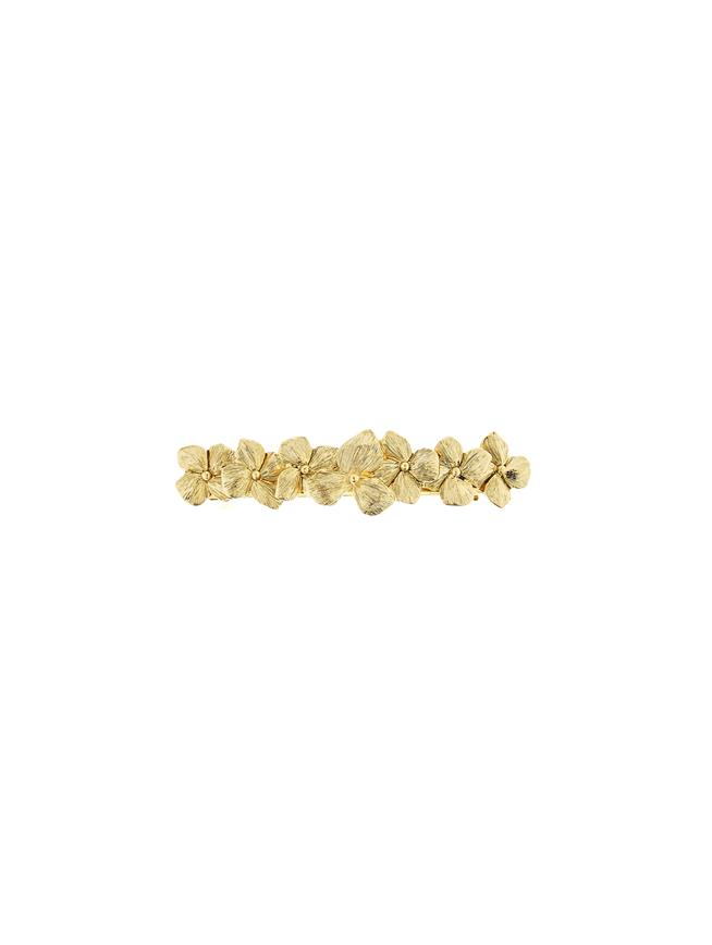 Flower Hair Clip Gold