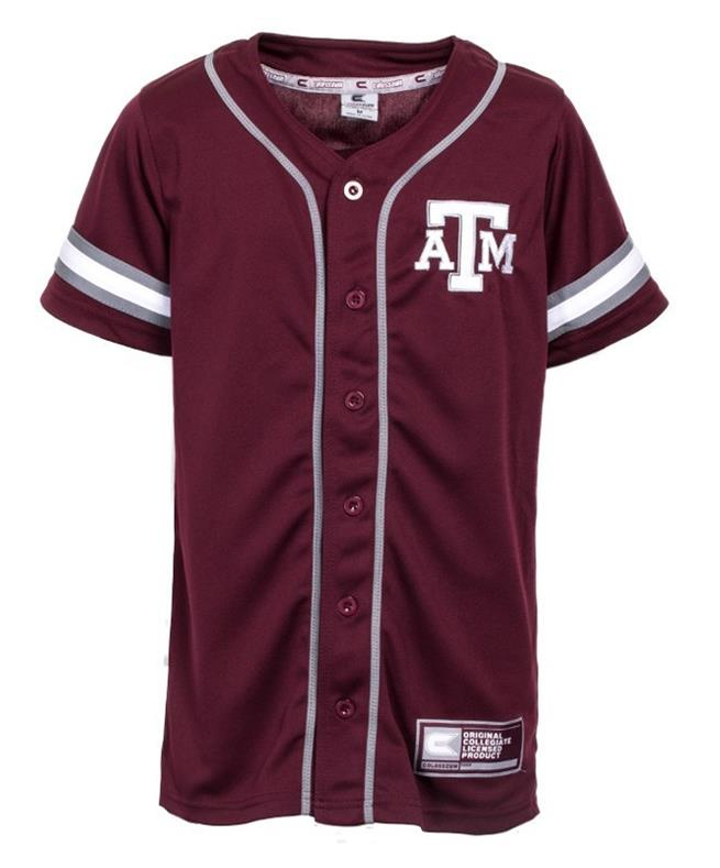 detailed look a6833 e838f 2018 Texas A&M Youth Baseball Jersey