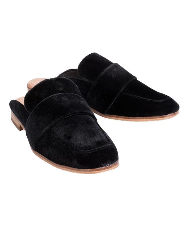 7d17da7ef4a Free People Black Velvet At Ease Loafer Black