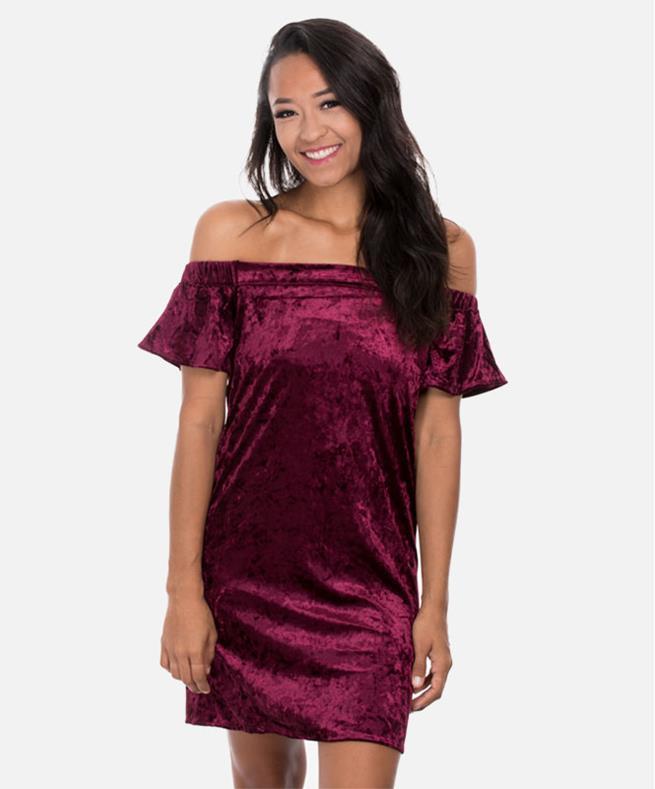 Off the Shoulder Short Sleeve Dress