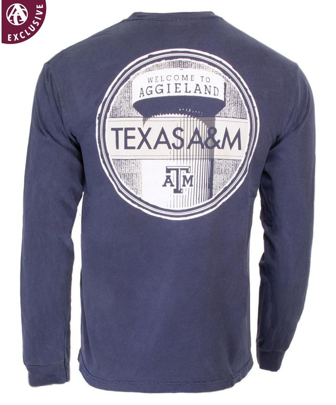 f4b27ca5 Texas A&M Welcome to Aggieland Tower Long Sleeve T-Shirt