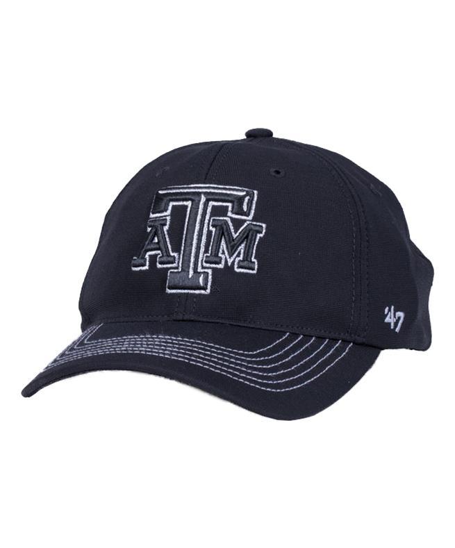 Texas A M  47 Brand Taylor Closer Fitted Cap Black  8ed0e2539fa