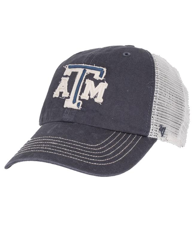 bd09baa0367768 47 Brand Texas A M Bevel Trucker Hat Vintage Navy   Aggieland Outfitters