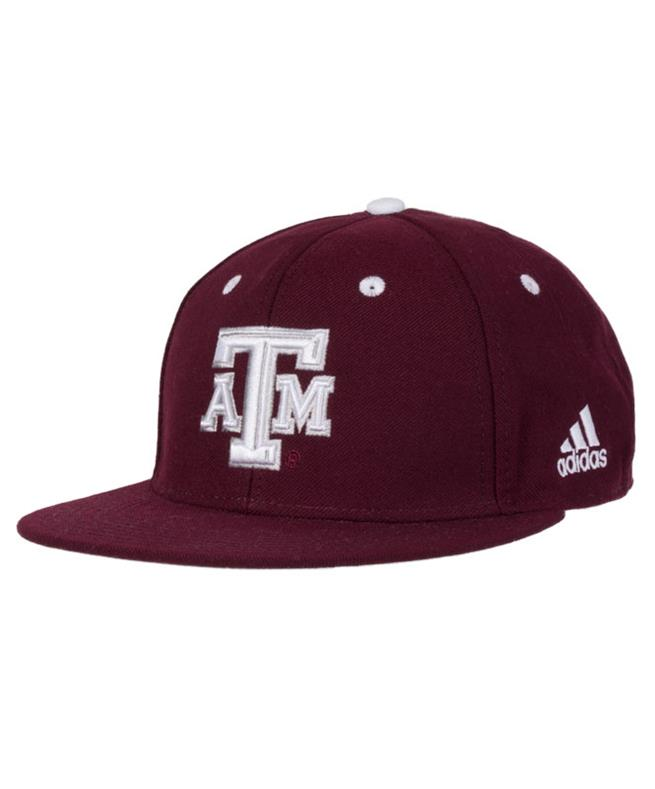 Texas A M Adidas Maroon On Field Fitted Cap Maroon  ff13a8f34