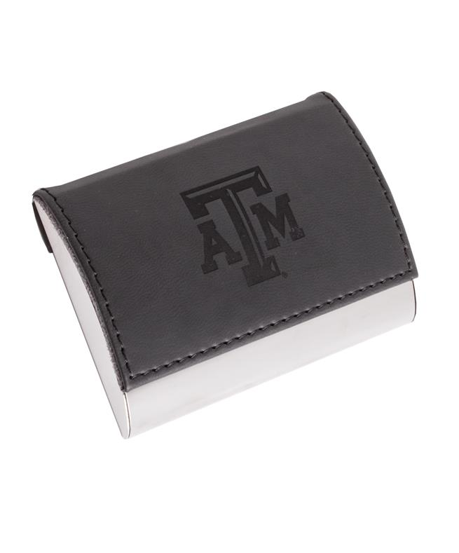 Leather Business Card Holder Black Aggieland Outfitters