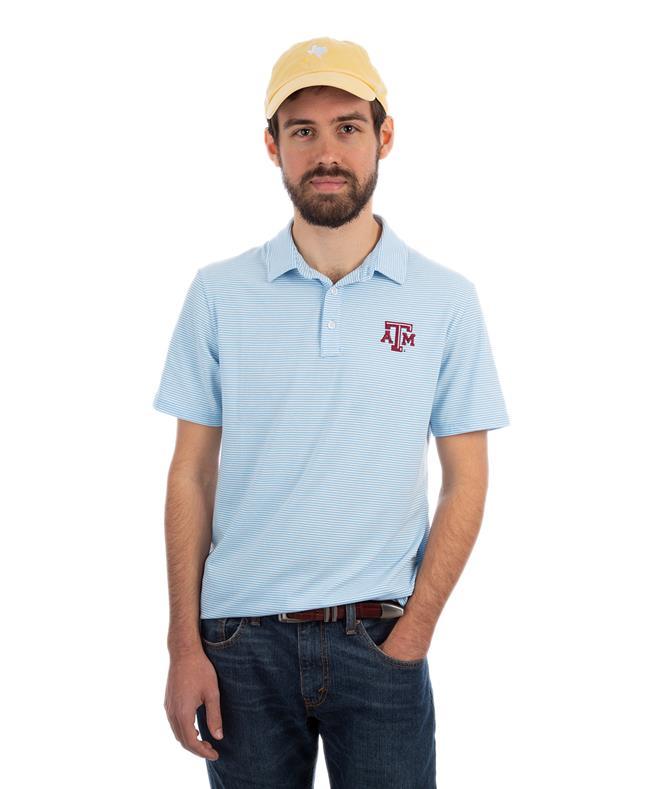 db8e53da Vineyard Vines Texas A&M Feeder Stripe Edgartown Polo Ocean Breeze |  Aggieland Outfitters