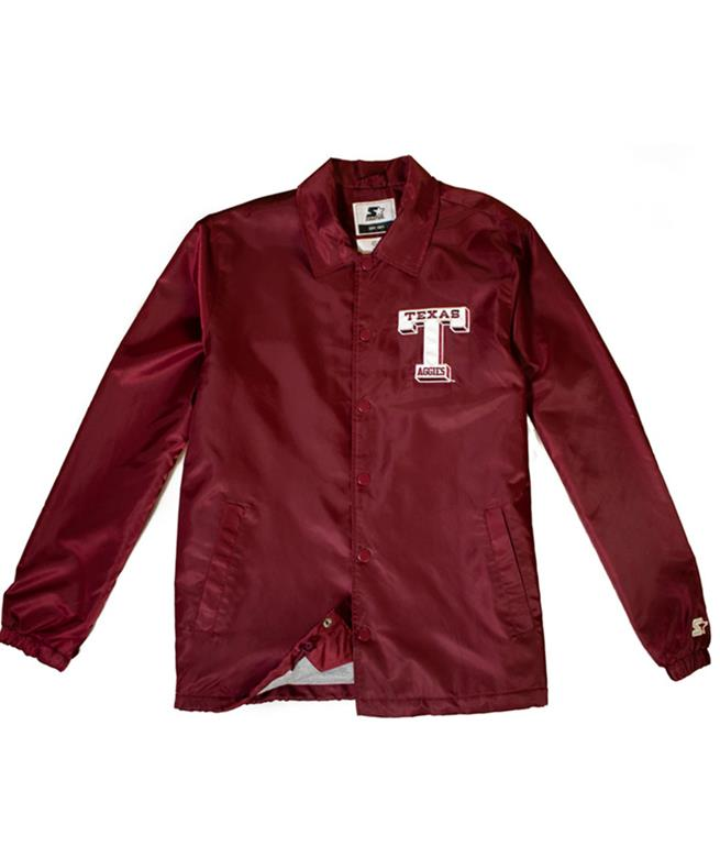 Retro amp;m Texas A Starter Jacket Coaches oxQrCEBWde