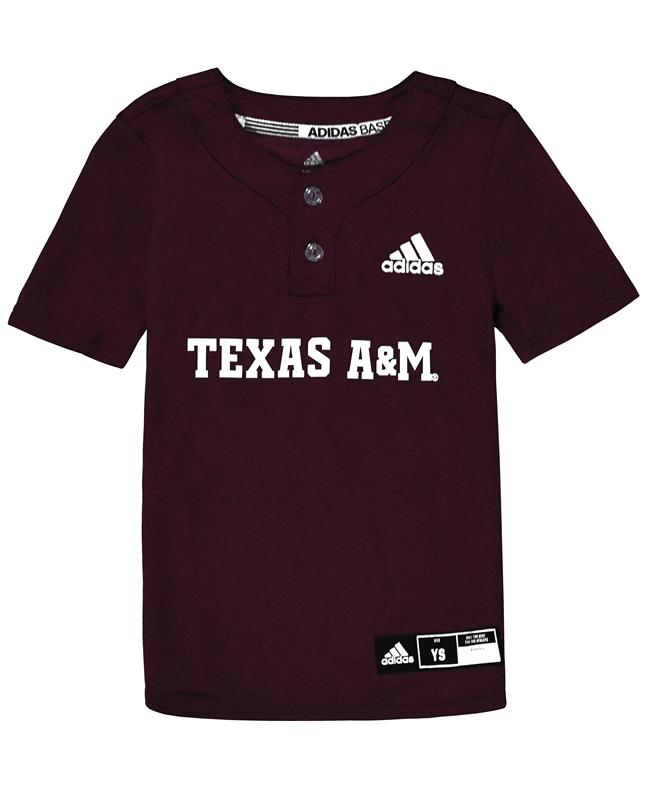 45181916f Diamond King Elite 2-Button Jersey Youth Maroon/White | Aggieland Outfitters