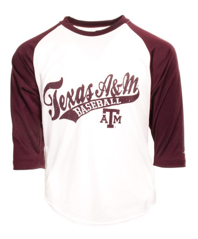 huge discount 2c70d c3e3c Badger Texas A&M Youth Raglan Baseball Tee