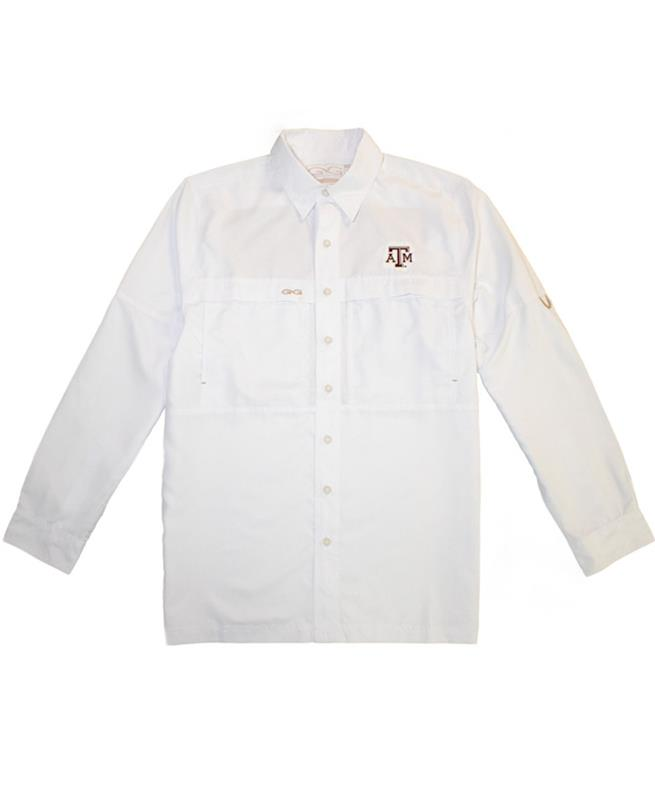 4740f072a0b44 Mens GameGuard MicroFiber LS Shirt White | Aggieland Outfitters
