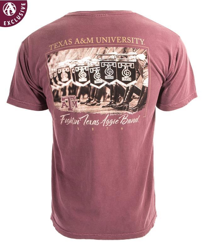 Texas A M Fightin Texas Aggie Band 1876 Short Sleeve T Shirt
