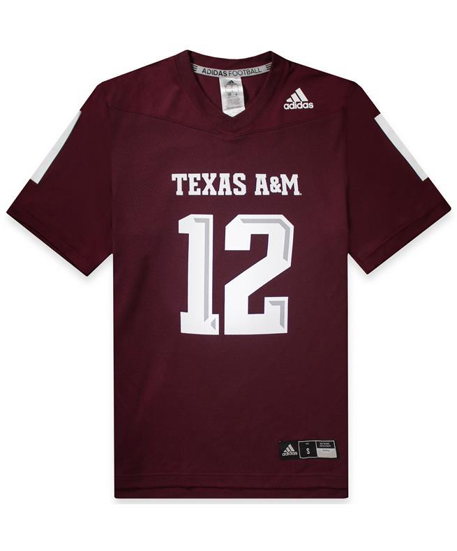 cheaper e50e8 d5a27 Texas A&M Adidas Men's Replica Football Jersey