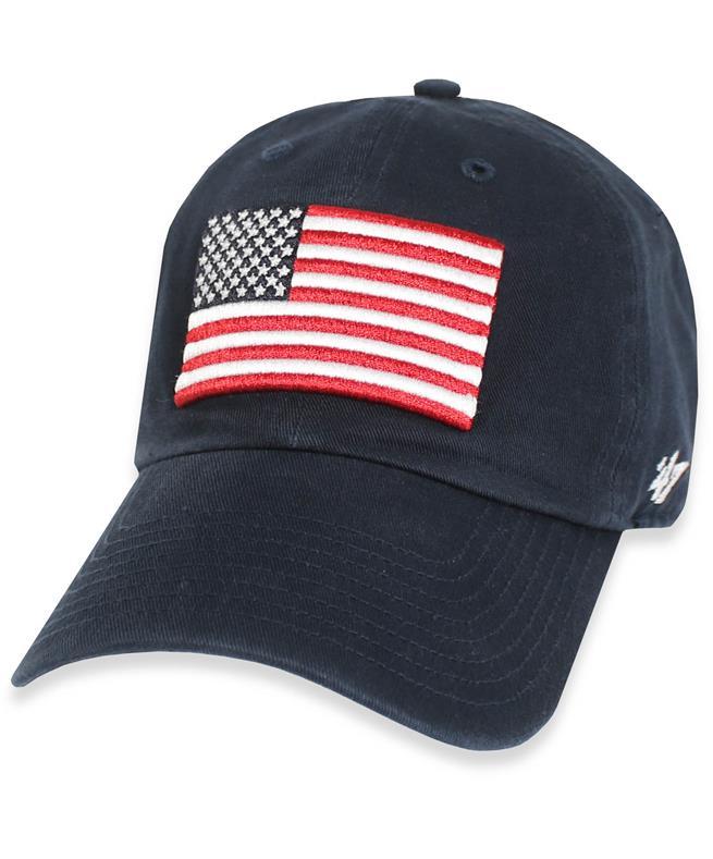Texas A&M '47 Brand American Flag OHT Cap