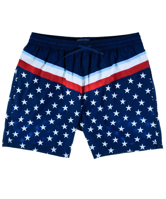10e1a59b6d BURLEBO Stars & Stripes Swim Trunks Navy Blue | Aggieland Outfitters