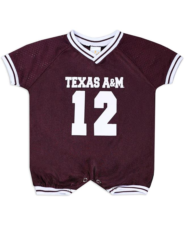 best website e19a6 0dda6 Texas A&M Infant Football Jersey Romper