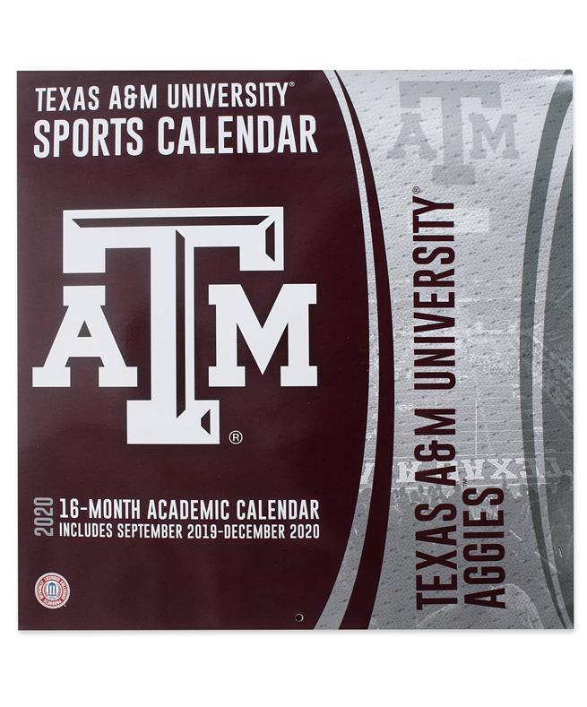 Texas A&M Calendar 2020 Texas ATM Aggies 2020 Calender Maroon/ White | Aggieland Outfitters