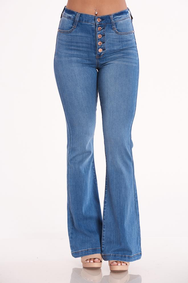 Celebrity Pink Button Front Jeans