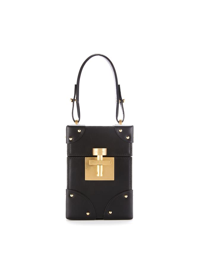 Studded Black Leather Alibi Bag  Black