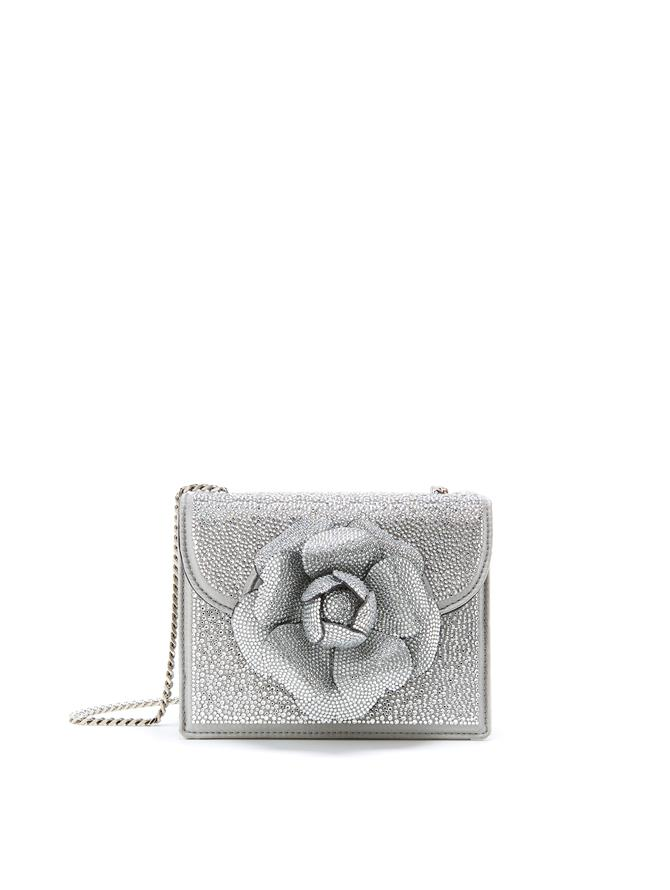 Crystal Swarovski Mini TRO Bag  Silver