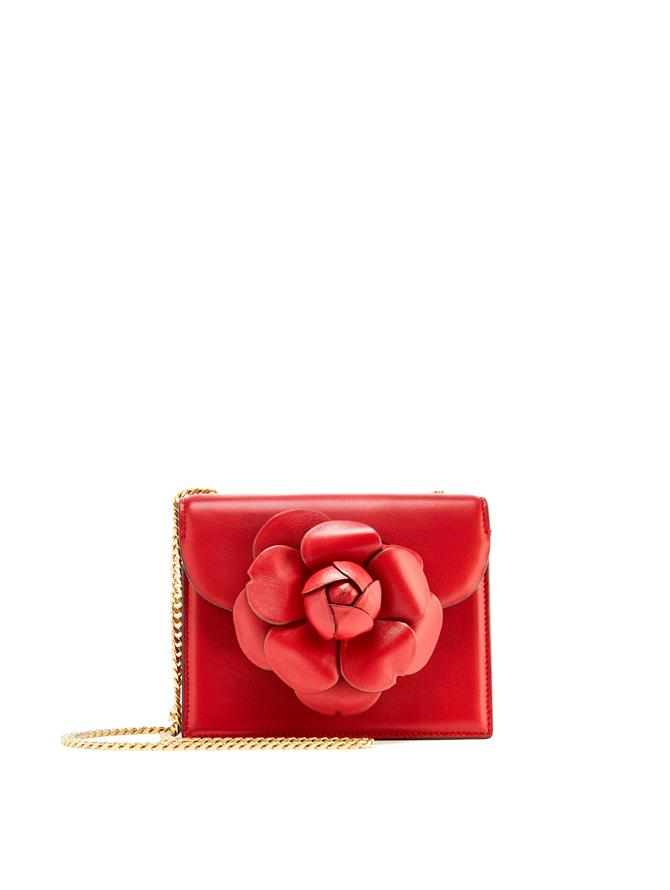 Crimson Leather Mini TRO Bag Crimson