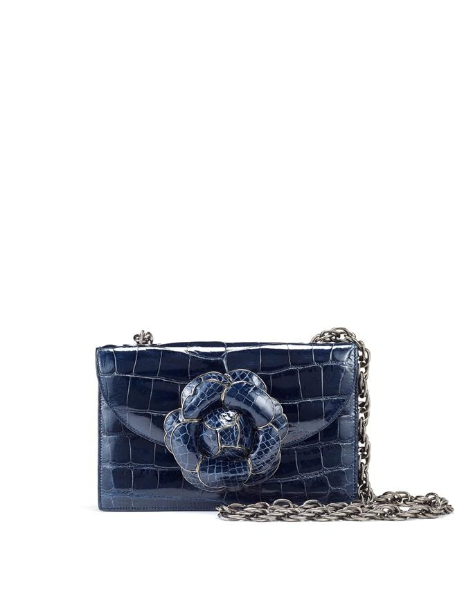 Navy Alligator TRO Bag Navy