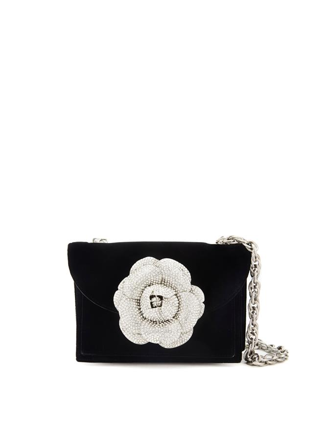 BLACK VELVET TRO BAG Black